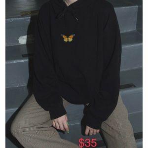 Brandy Melville butterfly hoodie (look alike)